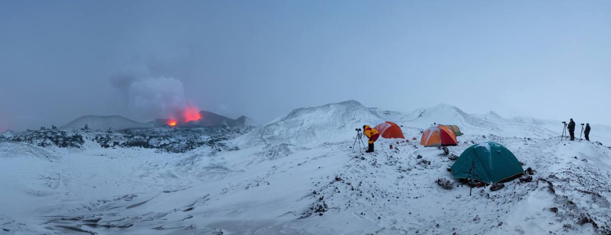 Извержение вулкана Ключевской